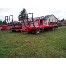 Metal Fach T009/K bálaszállító pótkocsi  3 tengelyes